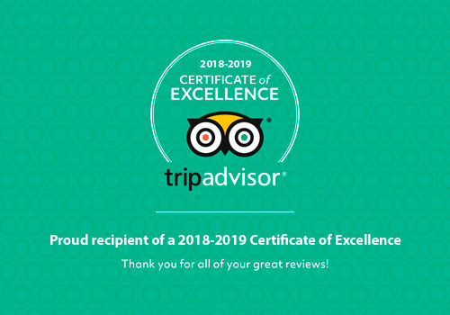 Certificate of excellence TripAdvisor- Inca World