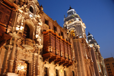 Lima cover photo. Cathedral in the historic center of Lima.