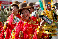 Cover photo for Bolivia. Women dancers at the Gran Poder Fes