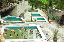 Aguas Calientes pools