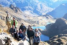 High Andean lakes and Snow-Capped Mountains while hiking the