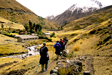 Traditional high-Andean villages during the Lares Trek to Ma