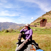 Cover photo. Resting during trek to the pre-Inca and Inca ru