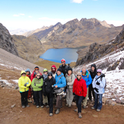 Cover photo. High-andean lake along the Lares trek to Machu