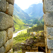 Cover photo. View of Inca ruins along the Sanctuary Garden t