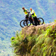 Biking death road, the world's most dangerous, in Bolivia