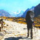 Walking a segment of the original Inca trail in Bolivia, El