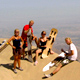 Sandboarding world's largest sand dune White Hill near Nazca
