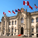 Government Palace in the historic colonial center of Lima Pe
