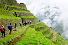 Exploring the original Inca terraces surrounding Machu Picch