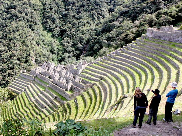 Winay Wayna segment of Inca Trail to Machu Picchu