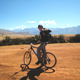 Biking enroute to the terraces of Moray and the Maras Salt P