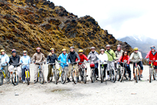 Beginning of the Inca Jungle bike from the Andes to the Jung