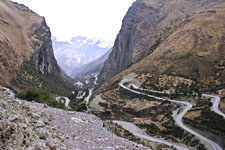 View of Malaga Pass, the high point of the Inca Jungle bikin
