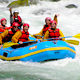 Rafting the Apurimac River rapids in the valley outside Cusc