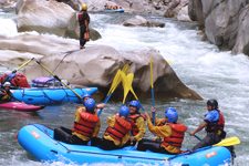 Navigating the rapids of the Apurimac River outside Cusco Pe