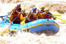 Pure adrenaline rafting the Apurimac River rapids near Cusco