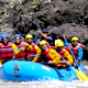 Rafting the exciting Urubamba River Rapids outside of Cusco