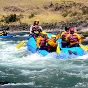 Cover Photo. Rafters on the Chuquicahuana River rapids by Cu