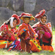 Traditionally dressed women and child in the Sacred Valley C