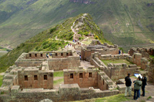 Pisac Ruins in the Sacred Valley of the Incas outside Cusco