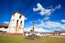 Colonial church in Chinchero in the Sacred Valley near Cusco