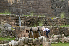 The Inca ruins of Tambomachay just outside of Cusco, Peru.