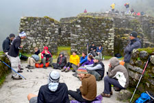 Learning about the Inca ruins of Machu Picchu Archeological
