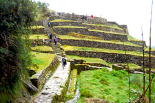 Original Inca terraces which supplied Machu Picchu