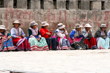 Traditionally dressed women in Chivay in Colca Canyon, Arequ