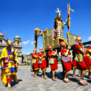 Cover Photo. Carrying the Inca during Inti Raymi in Cusco, P