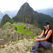 Cover Photo. Girl overlooking the Inca city of Machu Picchu