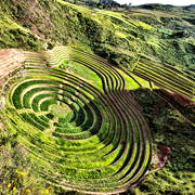 Cover Photo. Terraces of Moray Archeological Site near Cusco