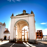 Cover Photo. Tower of Copacabana Sanctuary in Bolivia.
