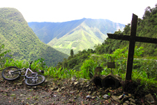 Panoramic view along death road from La Paz to Coroico, Boli