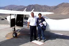 Light aircraft used for flight over the Nazca Lines in Peru.