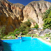Cover Photo. Pool at oasis in Colca Canyon near Arequipa, Pe
