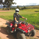 Riding an ATV Quadbike in the outskirts of Cusco, Peru.