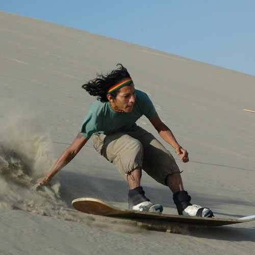 Sandboarding at Huacachina Lagoon